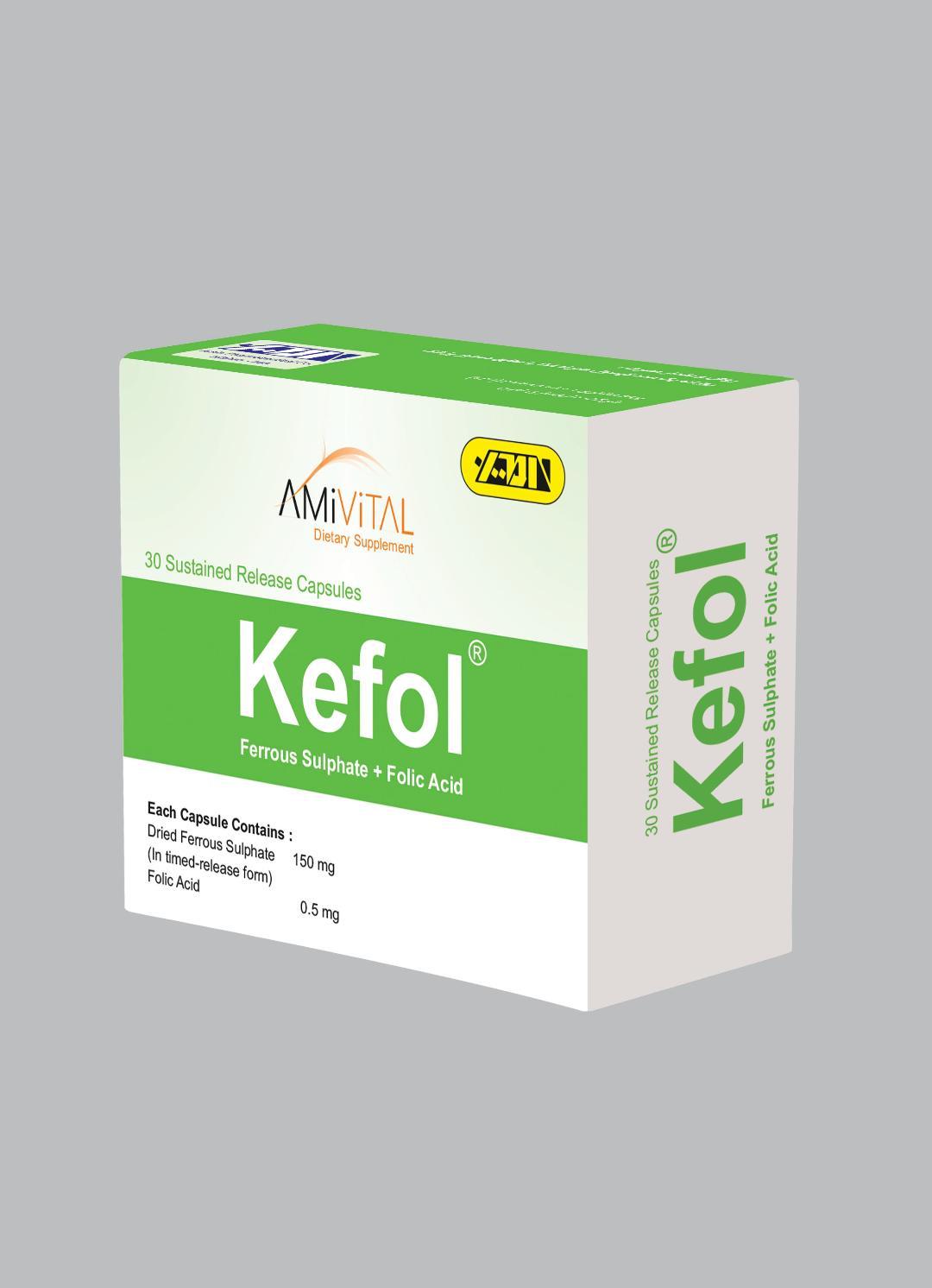 Ferrous Sulfate+Folic Acid-(150/0.5)mg S.R Capsule